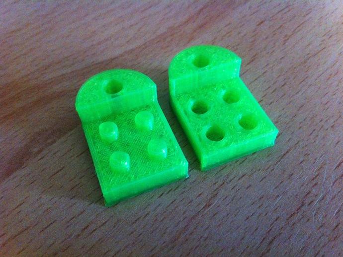 乐高积木 钥匙扣  3D打印模型渲染图
