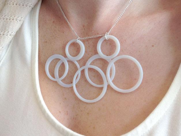圆环项链 3D打印模型渲染图