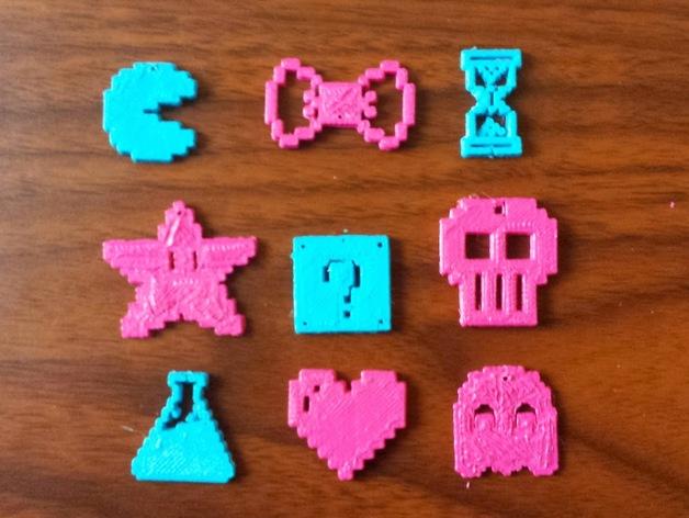 图素 吊坠 3D打印模型渲染图