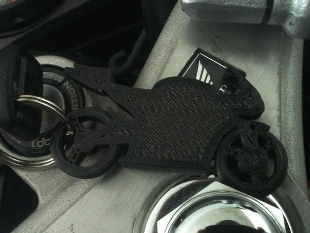 摩托车钥匙扣 3D打印模型渲染图