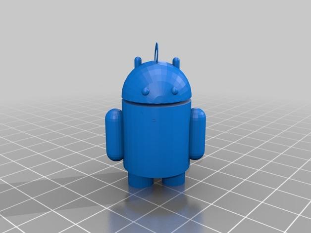 安卓小人吊坠 3D打印模型渲染图