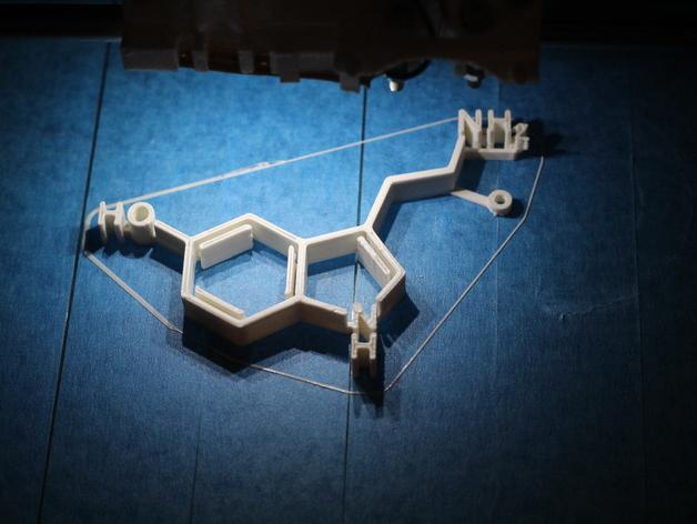 5 -羟色胺分子模型 3D打印模型渲染图