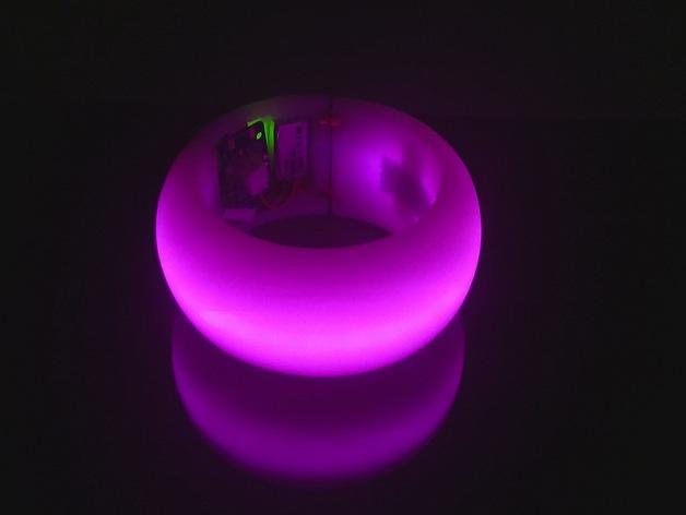 LED发光手镯 3D打印模型渲染图