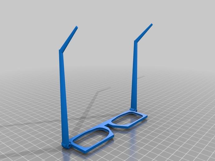 眼镜 3D打印模型渲染图
