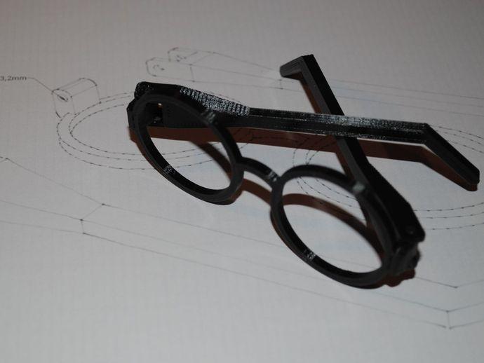 哈利波特眼镜 3D打印模型渲染图