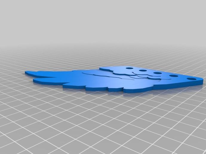 翅膀 饰品 3D打印模型渲染图