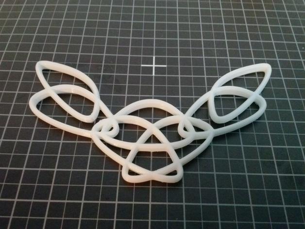 流线型 项链 3D打印模型渲染图