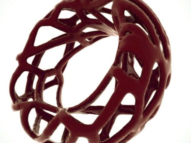 泰森多边形 手镯 3D打印模型渲染图