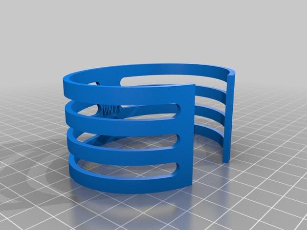 Diablo手镯 3D打印模型渲染图