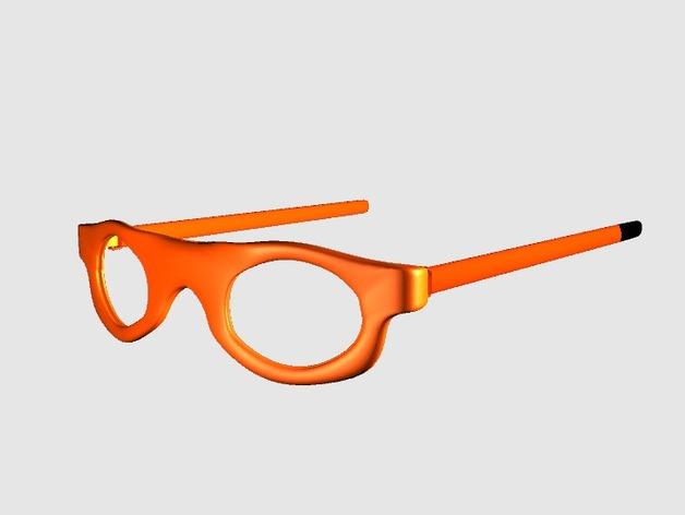 运动眼镜 3D打印模型渲染图