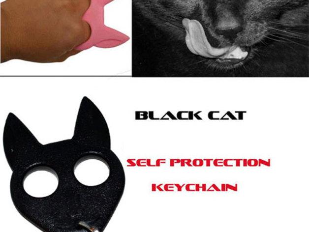 小黑猫 钥匙扣