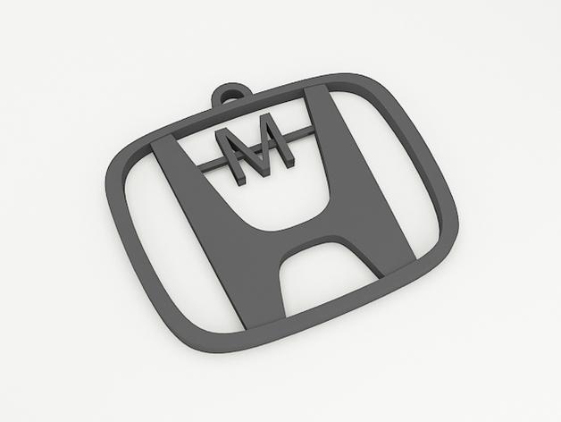 Honda汽车 钥匙坠 3D打印模型渲染图