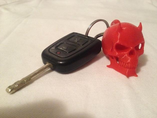 魔鬼骷髅头钥匙坠 3D打印模型渲染图