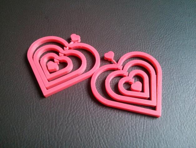 精美心形吊坠 3D打印模型渲染图