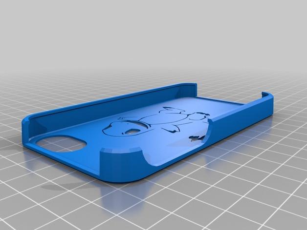 小火龙 iPhone 4手机套 3D打印模型渲染图