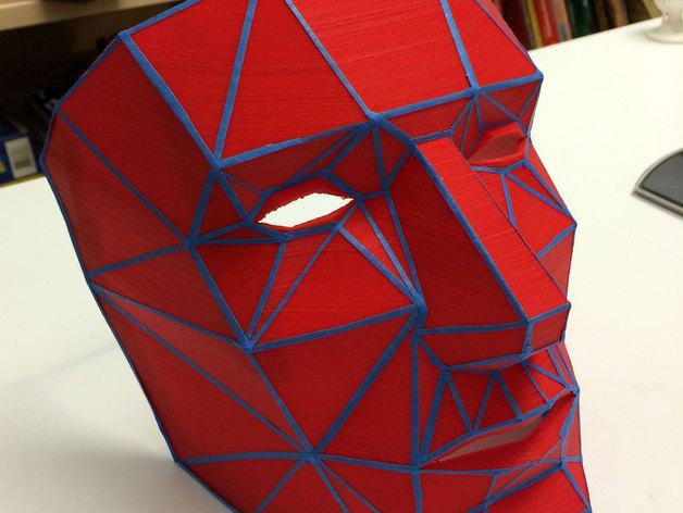 低面数面具 3D打印模型渲染图