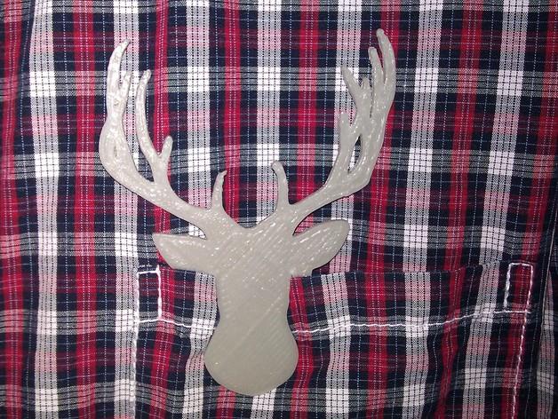鹿头夹子 3D打印模型渲染图
