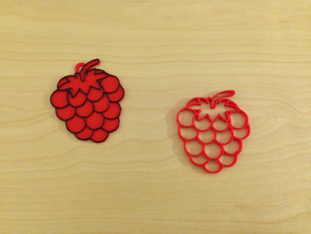 树莓 坠饰 3D打印模型渲染图