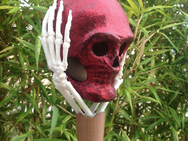 骷髅头头骨 3D打印模型渲染图