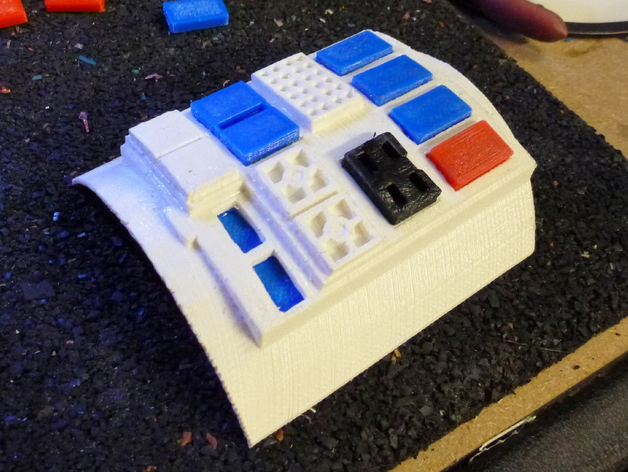 飞行员通信板 3D打印模型渲染图