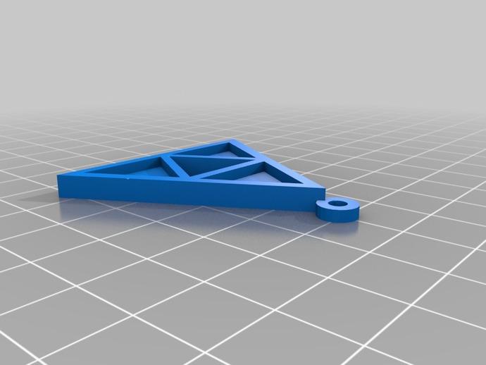 三角吊坠 3D打印模型渲染图