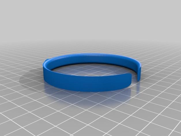 Gucci 手镯  3D打印模型渲染图