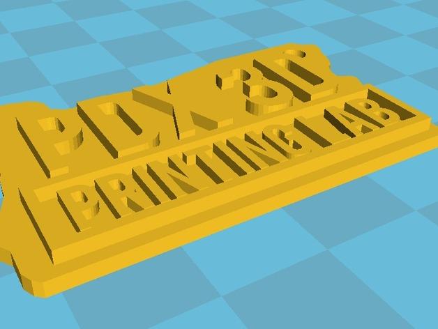 Portland 3D Printing Lab钥匙坠 3D打印模型渲染图
