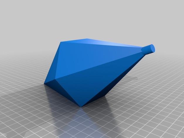 西姆斯铅锤 吊坠  3D打印模型渲染图