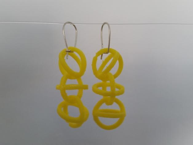 圈圈耳环  3D打印模型渲染图