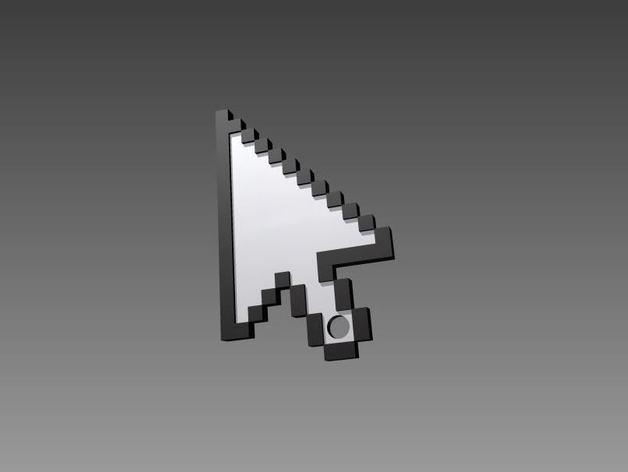箭头指针 钥匙坠 3D打印模型渲染图