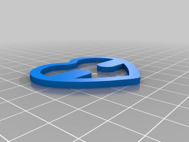 肩带夹子  3D打印模型渲染图
