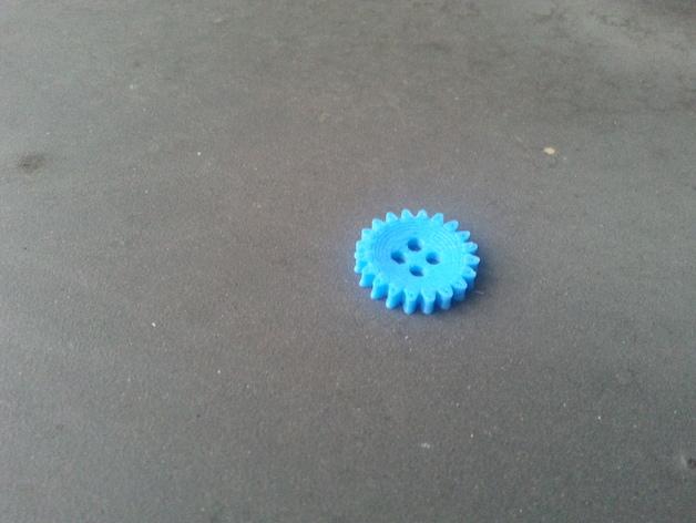 齿轮纽扣 3D打印模型渲染图