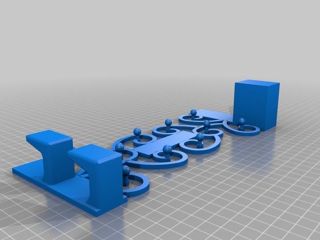 首饰挂勾 3D打印模型渲染图