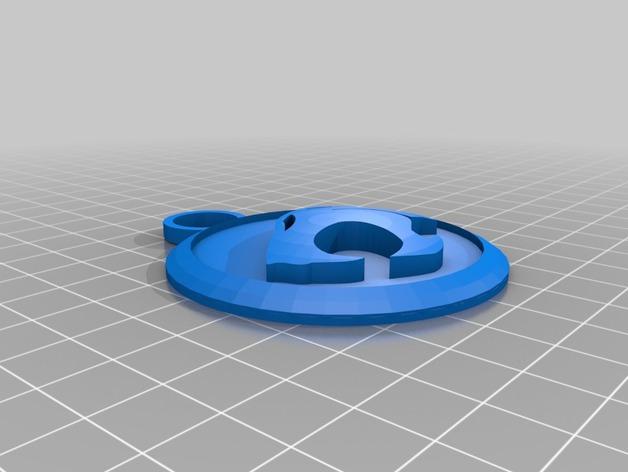 霹雳猫 吊坠 3D打印模型渲染图