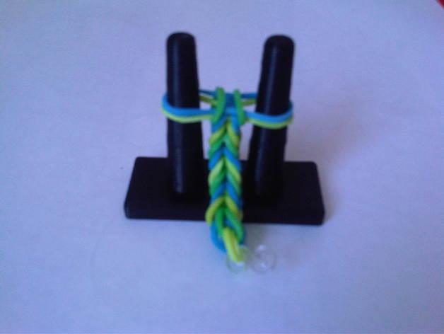 橡皮筋手链编织器 3D打印模型渲染图