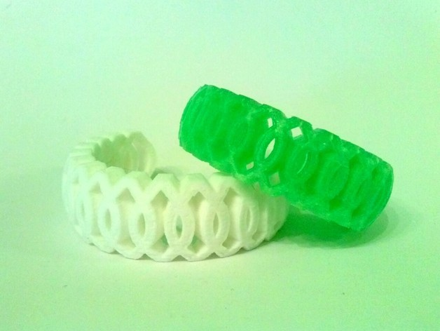 镂空编织手镯 3D打印模型渲染图