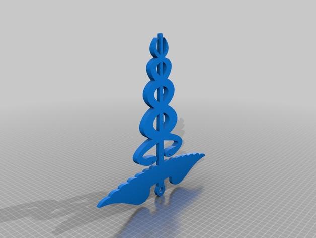 皇家海军 胸针 吊坠 3D打印模型渲染图