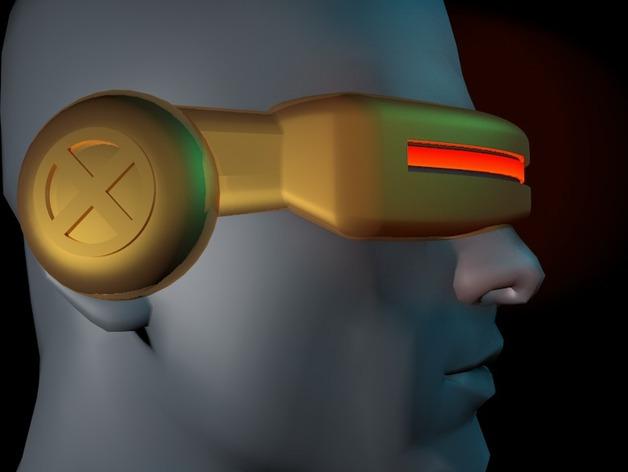 镭射眼镜  3D打印模型渲染图