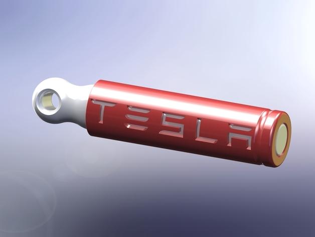 电池形 钥匙坠 3D打印模型渲染图