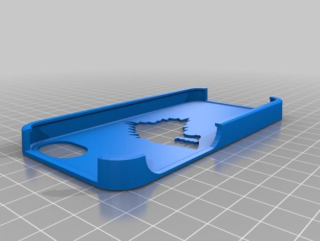 史塔克家族 iPhone 5/5s手机套  3D打印模型渲染图