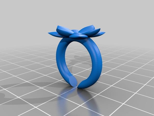 山茶花 骰子 积木 戒指