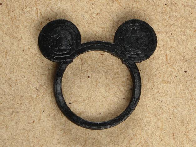 米老鼠 戒指 3D打印模型渲染图