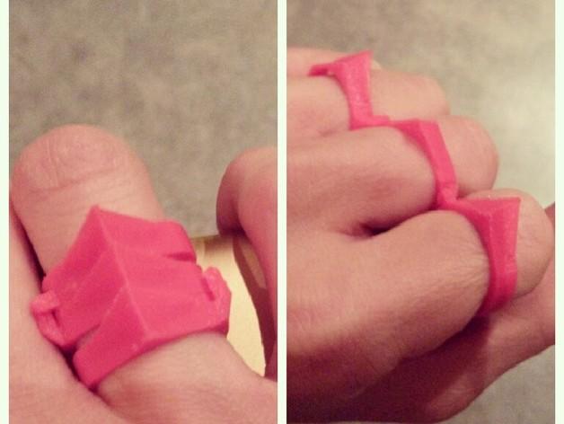 手指套环  3D打印模型渲染图