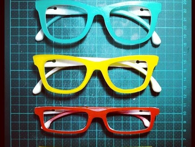 Occhiali眼镜 3D打印模型渲染图