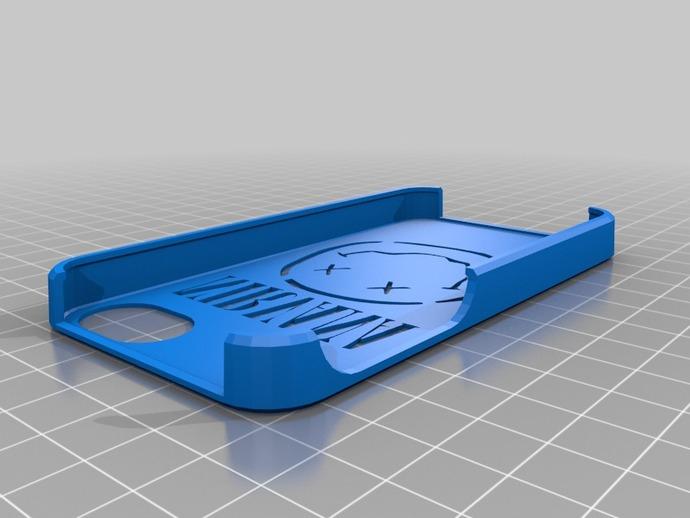Nirvana乐队标志 iPhone 4S手机套 3D打印模型渲染图