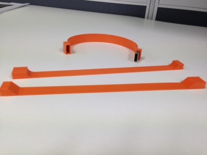 USB 手链 3D打印模型渲染图