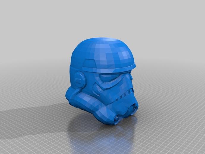 突击队员头盔 3D打印模型渲染图
