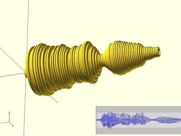 声波手镯 3D打印模型渲染图