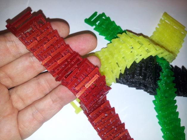 锁甲手链 3D打印模型渲染图