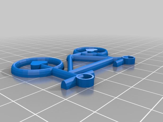 自行车 项链坠 3D打印模型渲染图
